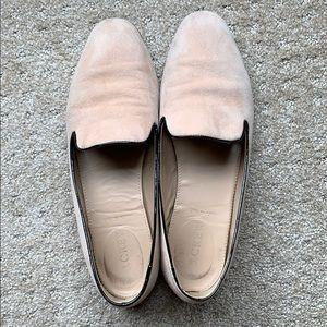 J crew pink velvet loafers
